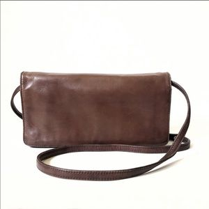 HOBO International Brown Leather Crossbody Bag EUC